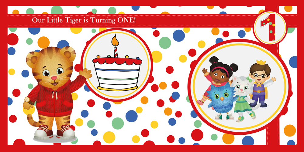 Daniel Tiger 1st Birthday Party Banner – 3in1 Events ...