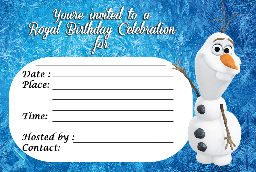 "Frozen Royal Celebration Invitation – 3in1 Events & More ""Store"""
